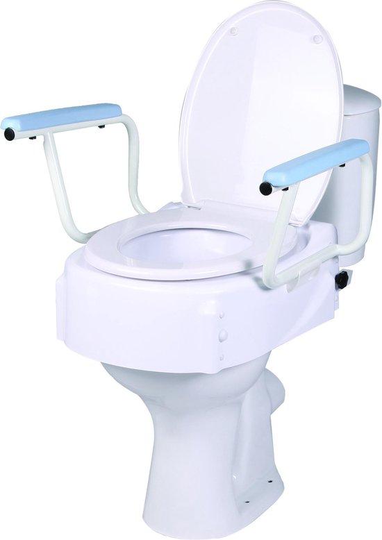 Toiletverhoger met deksel en armleuningen