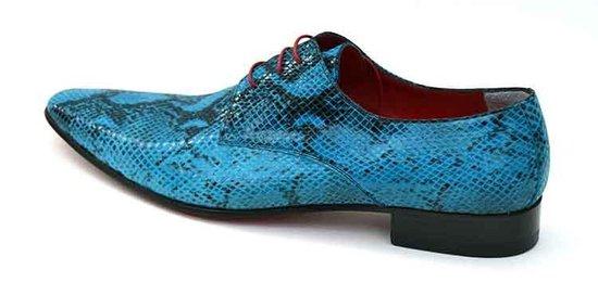 Blauwe veterschoen Heren Slangenprint Maat 44