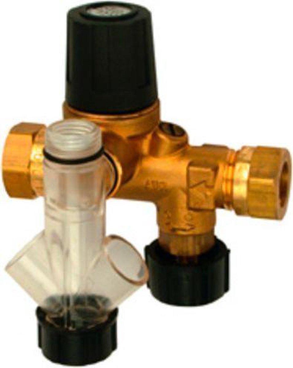Waterklus inlaatcombinatie 2 x 15 mm knel - Waterklus
