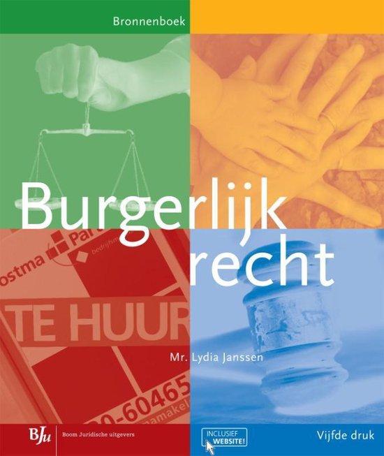Burgerlijk recht - Lydia Janssen pdf epub