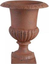 Franse hoge vaas 22 cm Antiek roestbruin
