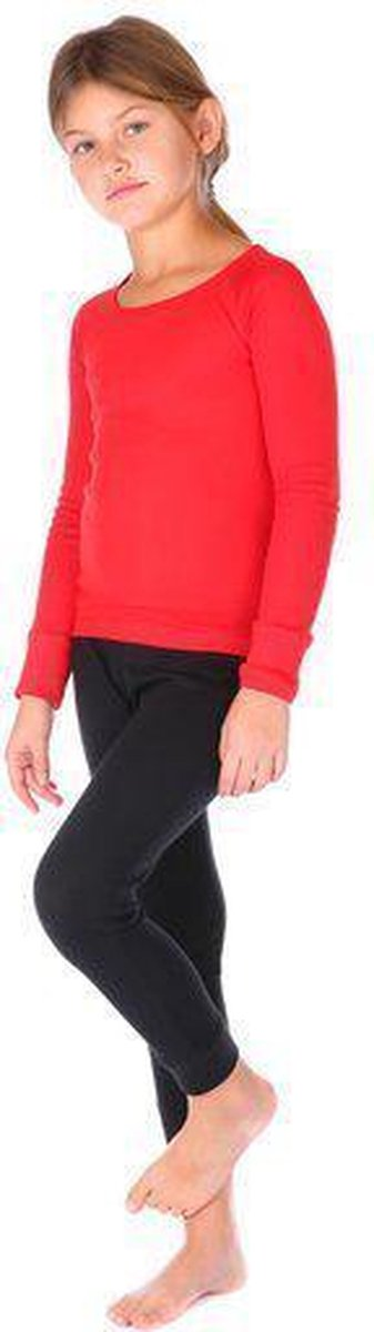 Thermo4sports - thermokleding - thermoset rood - zwart maat 128