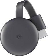 Google Chromecast 3 Smart TV-dongle Full HD HDMI Koolstof