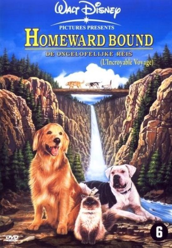 Cover van de film 'Homeward Bound - The Incredible Journey'