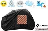 Fietshoes Met Insteekvak Polyester Geschikt Voor Cube Stereo Hybrid 120 HPA Race 500 27.5+ 2017 -Zwart