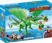 PLAYMOBIL Dragons Morrie & Schorrie met Burp & Braak - 9458