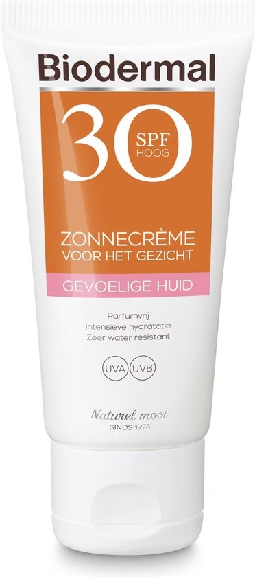 Biodermal Zon - Gevoelige huid - Zonnecrème gezicht - SPF 30 - 50ml