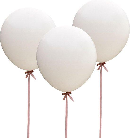 Ginger Ray Vintage Affair - XL ballon Ø 90 cm - wit - Set-3