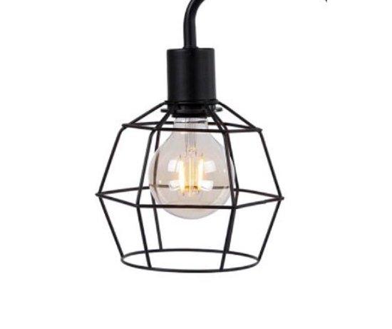 Van Manen Industriële Tafellamp 15x28x49 Cm Metaal/hout Zwart
