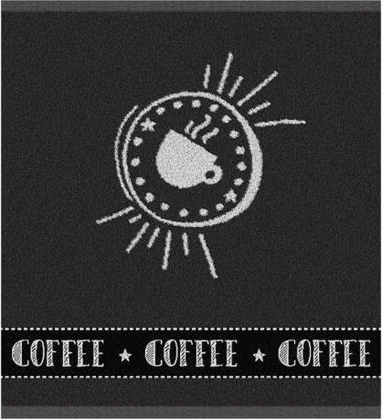 DDDDD Hello Coffee - Keukendoek - 50x55 cm - Set van 6 - Antracite