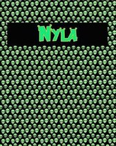 120 Page Handwriting Practice Book with Green Alien Cover Nyla