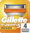 Gillette Fusion5 Power Scheermesjes Mannen - 4 stuks