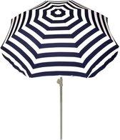 Summertime Parasol - stokparasol - Ø180 cm - blauw en wit
