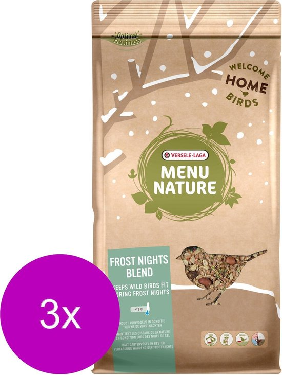 Versele-Laga Menu Nature Strooivoer Winter Frost Nights - Voer - 3 x 2.5 kg