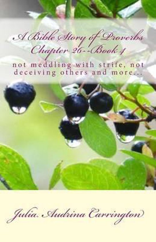 Boek cover A Bible Story of Proverbs Chapter 26--Book 4 van Julia Audrina Carrington (Paperback)