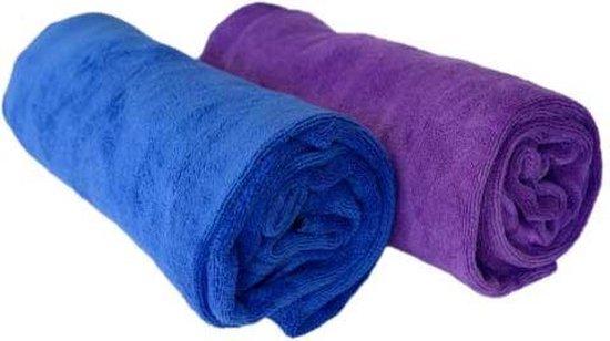 AV diversity sporthanddoek microvezel met omslag en rits fitness handdoek - Paars