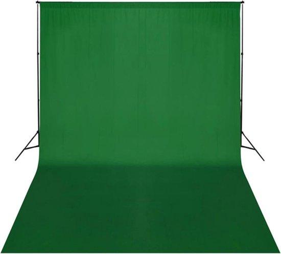 Achtergrondsysteem met green screen 300 x 300 cm.