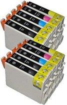 FLWR T0551 / 2 / 3 / 4 10-Pack / Zwart en Kleur / Cartridge - Geschikt voor Epson