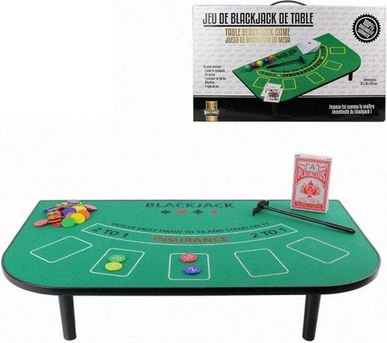Casino Blackjack Tafel Spel Set - Met Kleed, Speel Fiches & Kaartspel -