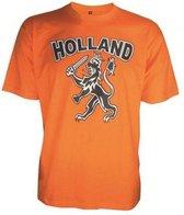 Benza T-shirt -  EK/WK Voetbal oranje T-shirt met leeuw voor kinderen - maat 116 = 5 - 6 jaar