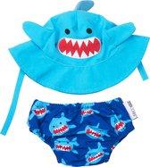 Zoocchini zwemsetje Sherman the Shark maat 3-6 maanden (small)
