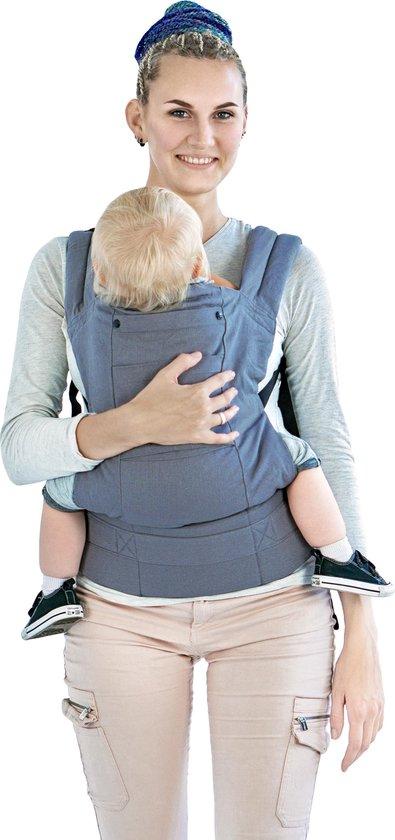 Multi Power draagzak grijs - babydrager - ergonomische draagzak - GRATIS opbergtas