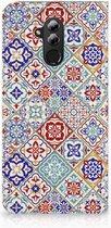 Huawei Mate 20 Lite Uniek Standcase Hoesje Tiles Color