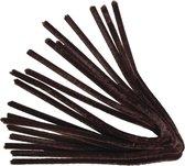 10 stuks bruine chenilledraden 50 cm - pijpenragers