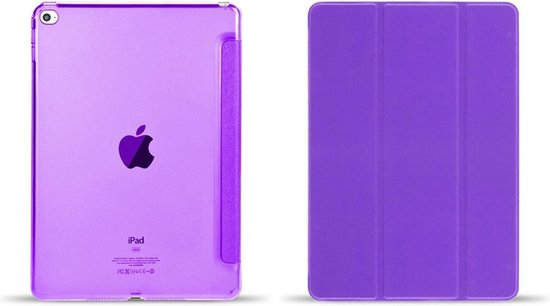 Apple iPad Mini 4 Flip Cover met zachte binnenzijde Paars
