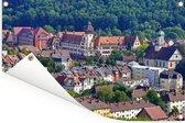 Gekleurde daken in het Duitse Freiburg Tuinposter 90x60 cm - Tuindoek / Buitencanvas / Schilderijen voor buiten (tuin decoratie)