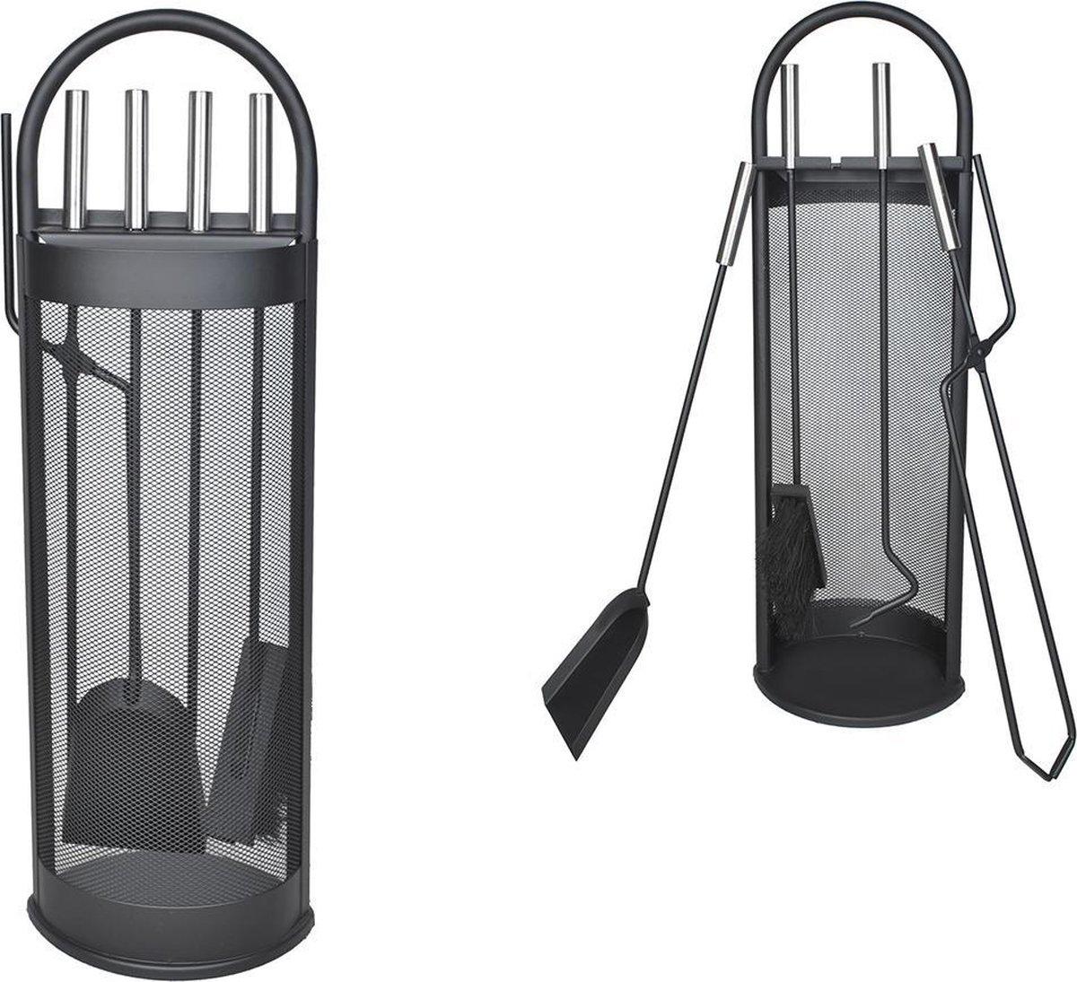 Haardset 5-Delig - Openhaardset - Open Haard Gereedschap Accessoire Set - Haardstel Pook/Tang/Schep/