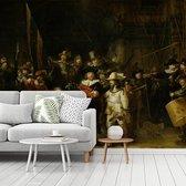 De Nachtwacht - Schilderij van Rembrandt van Rijn fotobehang vinyl breedte 300 cm x hoogte 250 cm - Foto print op behang (in 7 formaten beschikbaar)