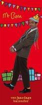 Verjaardagskalender Mr Bean - Rood - Humor - 13 x 33 x 0,6 cm
