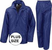 Grote maten blauw All Weather regenpak voor volwassenen 3XL (48/58)