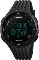 Skmei Backlight - Waterdicht 5 ATM Digitaal Sporthorloge - Dual Time - 45 mm -  Zwart