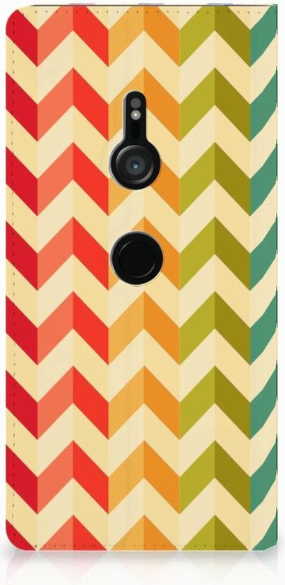 Sony Xperia XZ3 Hoesje met Magneet Zigzag Color