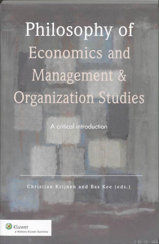 Philosophy of economics and management & organization studies - none pdf epub