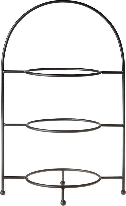 Laura Ashley Blueprint Collectables Bordenrek zwart metaal 3-laags - geschikt voor 27cm borden