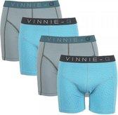 Vinnie-G boxershorts Wave Dark-Print 4-pack -L
