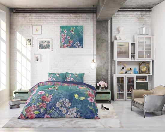 Dreamhouse Brenda Dekbedovertrekset - Lits-Jumeaux - 240x200/220 + 2 kussenslopen 60x70 - Blauw