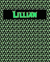 120 Page Handwriting Practice Book with Green Alien Cover Lillian