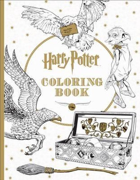 Boek cover Harry Potter Coloring Book van Scholastic (Paperback)