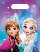 Frozen thema feestzakjes - 6 stuks - uitdeelzakjes