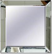 Spiegel met Spiegelrand - 40X40 - Zilver