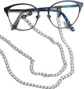 Brillenkoord - aluminium - grote zilverkleurige schakels