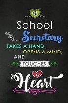 A School Secretary takes a Hand and touches a Heart