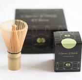 Matcha set 30 gram Japanse groene theepoeder en bamboeklopper - Mr & Mrs Tea