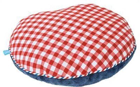 Lief! Kattenkussen Voor Koffer Uni Blauw/Rood 40X35X10 CM