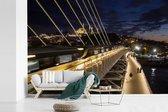 Foto vanaf een brug van Istanbul fotobehang vinyl breedte 360 cm x hoogte 240 cm - Foto print op behang (in 7 formaten beschikbaar)