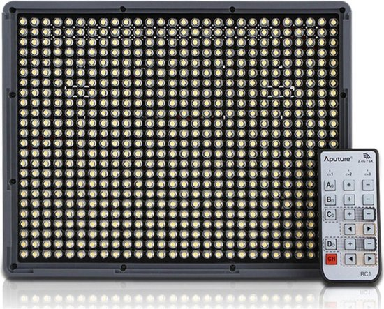 Aputure LED HR-672C Bi-Color Groothoek + Afstandsbediening - Zwart